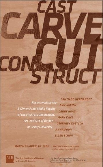 Cast, Carve, Cut, Construct
